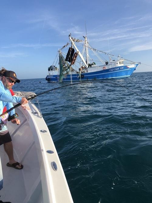 Shark Fishing near Shrimp Boats March 2020