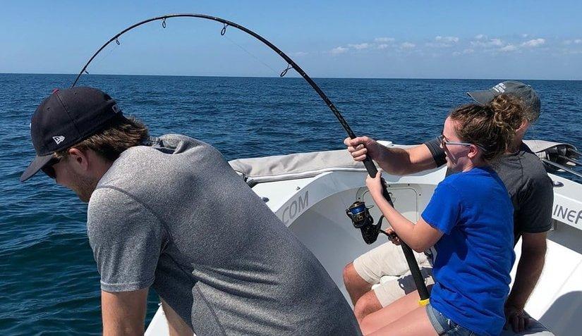 Shark Fishing near Shrimp Boats