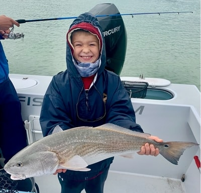 Junior turned 7 this year and wanted another fishing charter like last years for his birthday.